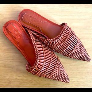 Jaggar the Label Artisan Flat Sandal Rust Size 7
